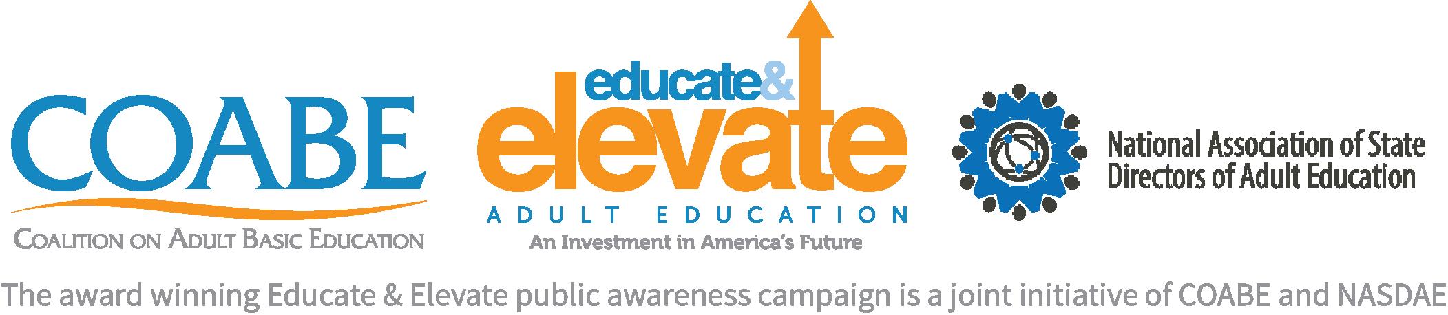 EE, COABE & NASDAE Logo, Horizontal